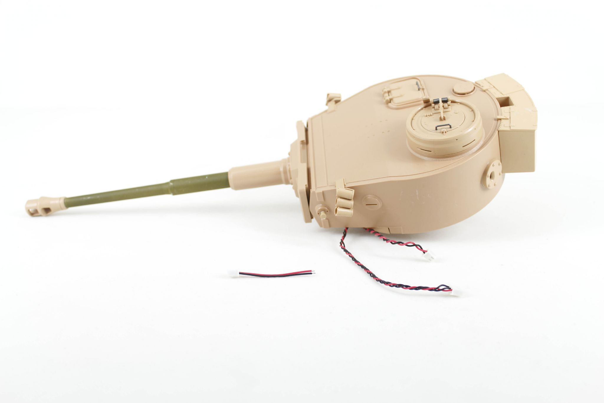 Taigen Tiger 1 plastic turret with servo recoil - airsoft
